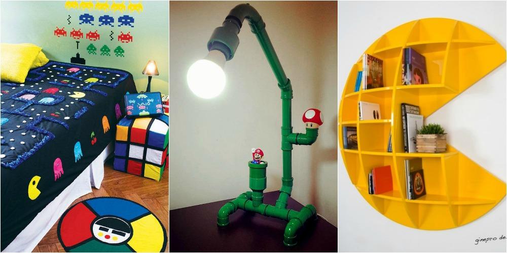 Space Invaders, Pac Man, Super Mario e outros podem ser temas de decoração