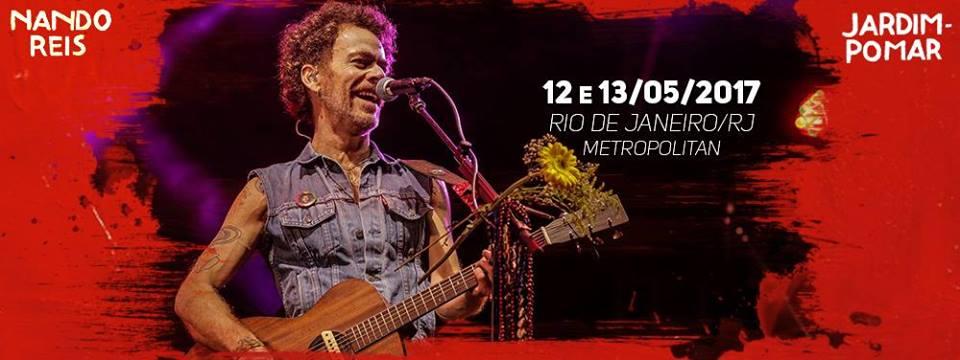 Show: Nando Reis traz Turnê Jardim-Pomar para Rio