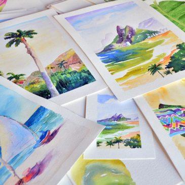 Conheça as aquarelas de Diana Gondim